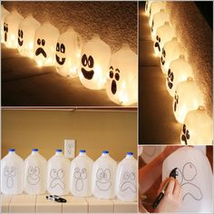 Would You Try These Milk Jug Ghosts for Halloween?
