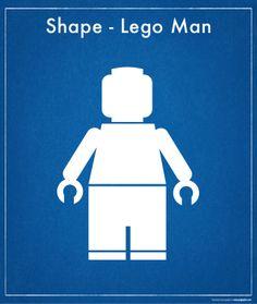 Freebie - Shape - Lego Man Lego Man, Small Boy, Shapes, Templates, Kids, Craft Ideas, Birthday, Young Children, Stencils