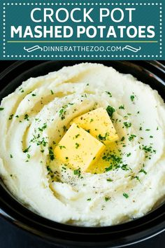 These crock pot mashed potatoes are diced potatoes that are simmered in the slow cooker, then mashed with butter and cream cheese for a decadent side dish. Potato Recipes Crockpot, Crockpot Mashed Potatoes, Crock Pot Potatoes, Creamed Potatoes, Mashed Potato Recipes, Crockpot Dishes, Cheesy Potatoes, Skillet Recipes, Baked Potatoes