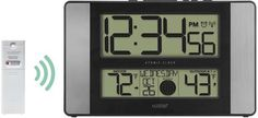 La Crosse Technology Atomic Digital Wall Clock with Aluminum Side Panels