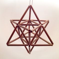Shop for on Etsy, the place to express your creativity through the buying and selling of handmade and vintage goods. Mobiles, Diy Arts And Crafts, Diy Crafts, Straw Crafts, Sacred Geometry Art, Star Ornament, Handmade Ornaments, Light Decorations, Geometric Shapes