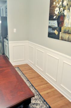 Not So Newlywed McGees: Wainscoting Reveal!