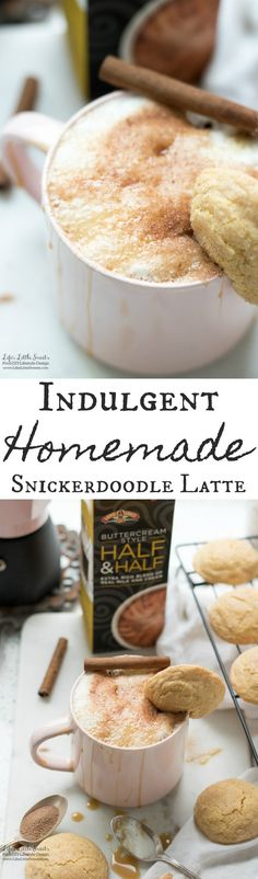 This Indulgent Homemade Snickerdoodle Latte is an indulgent hot, coffee drink made with espresso or coffee and topped with creamy New Land O Lakes® Brunch Recipes, Breakfast Recipes, Drink Recipes, Snack Recipes, Coffee Barista, Hot Coffee, Coffee Drinks, Cocoa Cinnamon, Cinnamon Sticks