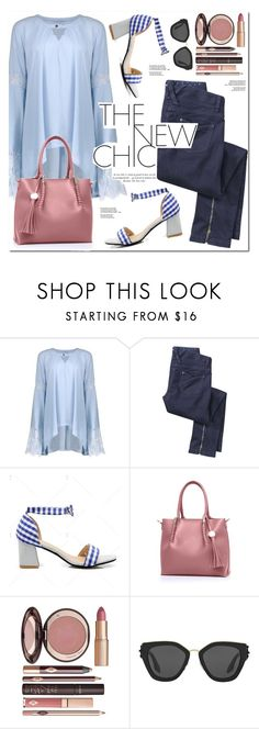 """The New Chic"" by oshint ❤ liked on Polyvore featuring Charlotte Tilbury and Prada"