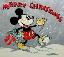 vintage 1936 disney christmas  card