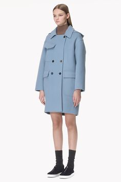Hood detailed handmade double coat