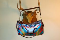 Leather and Pendleton hobo, The Buena Vista Social Bag by Arc of a Diver