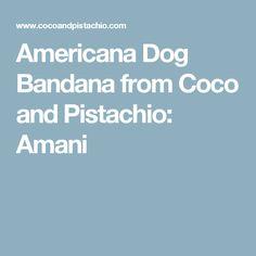 Americana Dog Bandana from Coco and Pistachio: Amani