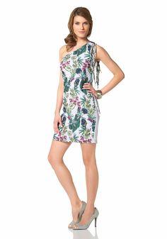 Aniston Sommerkleid »One-Shoulder - mit Fransen« im Online Shop von Ackermann Versand #Garten #Frühling #Sommer One Shoulder, Lily Pulitzer, Shopping, Dresses, Fashion, Fringes, Summer, Gowns, Vestidos