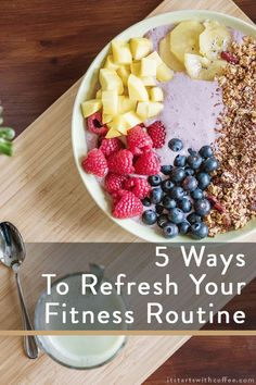 sharing 5 ways to refresh your fitness routine so that you don't get bored but that you do have tons of fun and enjoy what you are doing Healthy Breakfast Recipes, Healthy Drinks, Healthy Snacks, Healthy Recipes, Fitness Blogs, You Fitness, Healthy Eating Habits, Healthy Living, Coffee Blog
