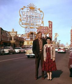 Standing on Main Street Las Vegas 1956