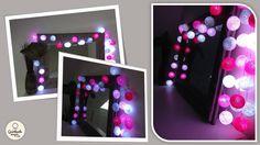 porte peinte et guirlande lumineuse DECO Pinterest
