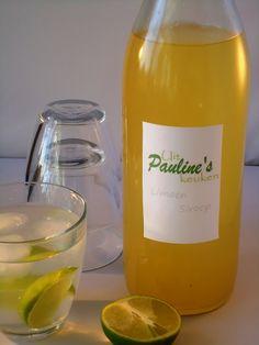 Limoen munt siroop -