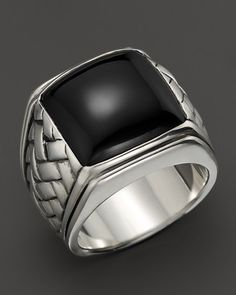 Scott Kay Sterling Silver Basketweave Ring with Onyx Center on shopstyle.com
