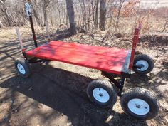 """You add a platform or """"bed"""" in the length you need to create a functional wagon. MIG welded steel frame adjusts from to Lawn Equipment, Old Farm Equipment, Outdoor Power Equipment, Atv Trailers, Utility Trailer, Vintage Farm, Wheelbarrow, Tandem, Steel Frame"""