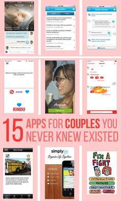 From Buzzfeed: 15 Apps For Couples You Never Knew Existed. These apps can do everything from help couples fix a fight to helping them maintain long distance connections!