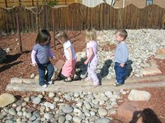 Picture Tour - Loose Parts Playground Childcare Environments, Natural Play Spaces, Outdoor Learning Spaces, Natural Playground, Playground Ideas, Sensory Garden, Outdoor Classroom, Outdoor Areas, Outdoor Projects