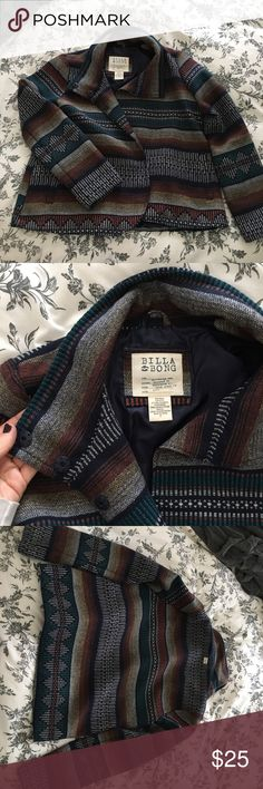 billabong aztec jacket, medium billabong aztec jacket size medium. A little bit of a boxier fit, but super cute and comfy. no trades please Billabong Jackets & Coats
