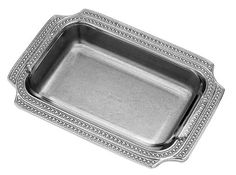Wilton Armetale Flutes and Pearls Baking Dish, Rectangular, 10-1/2-Inch by 14-1/4-Inch by Wilton Armetale. $79.99. Made of 100% recycled, food-safe, aluminum-based alloy metal, will not rust, break, crack, or chip under normal usage. Measures 10-1/4-inch by 14-1/4-inch by 2-inch. With proper care your Wilton Armetale treasures can last a lifetime. Hand wash with mild soap and hot water; towel dry. Wilton Armetale Flutes and Pearls Baking Dish, designed for decorativ...