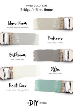 """Favorite Neutral Paint Colors in Our Homes. The paint colors in Bridget's first home. We're always answering the question, """"what paint color is that?"""" Here's a comprehensive list of our favorite neutral paint colors in our homes."""