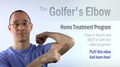 Golfer's Elbow Classroom: A Self-Help Home Treatment Program - Let's break YOUR vicious cycle of elbow pain misery! Golfers Elbow Exercises, Elbow Stretches, It Band Stretches, Golfers Elbow Treatment, Natural Cure For Arthritis, K Tape, Elbow Pain, Shoulder Muscles, Tennis Elbow