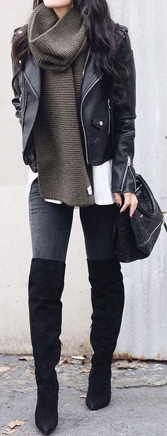 50 Winter Outfit Ideas for 2017 that are Stylish AF - Poshiroo #womenclothingoutfits