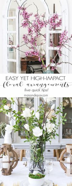 Diy Crafts Ideas : 5 Suggestions for Quick Easy High-Impact Floral Arrangements: Real or faux flow