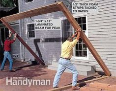 Build and set the rear posts for the screened in porch.