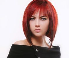 medium bob with bangs and layers | red medium bob 30 Impressive Medium Bob Hairstyles