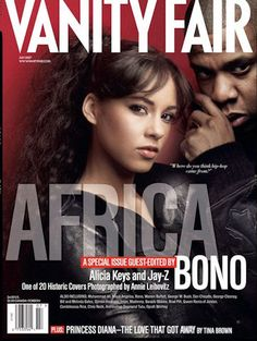 Alicia Keys and Jay-Z 1 of 20 Covers by Annie Leibovitz July 2007 Bono's Aid to Africa
