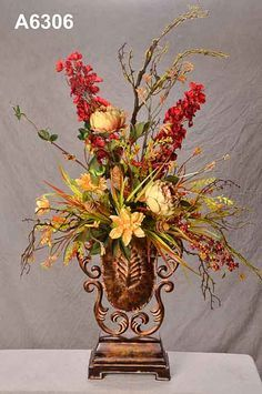 step by step silk flower arranging - Google Search