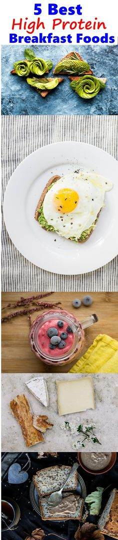5 Best High-Protein Breakfast Foods to satiate our hunger and make us full longer. Simple, protein loaded, healthy breakfast ideas that work!