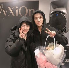 "92 Likes, 1 Comments - O.S.H 세훈 (@its.sehunn) on Instagram: ""Leader with the maknae ❤"""