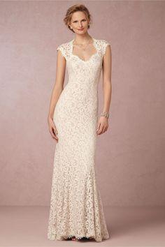 Love the neckline- Marivana Lace Gown from @BHLDN #WishBigWinBigGiveaway #wedding #registry