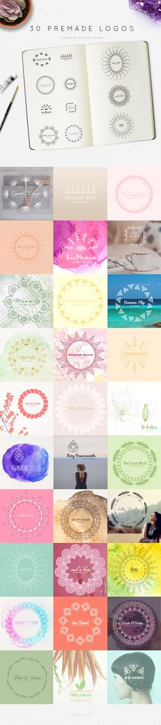 pre-made logos included... Mandala Logo Creator by Mindful Pixels on @creativemarket $29.00