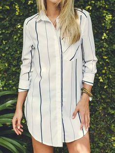 the cutest striped shirt dress ever