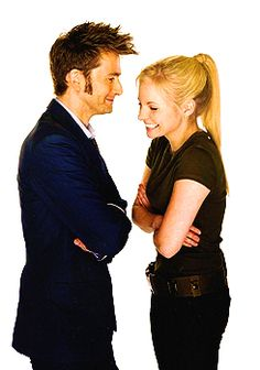 Cause its cute The Doctor & his Daughter or David Tennant & his wife!