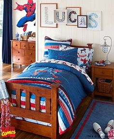 i love the pottery barn kids spider man bedroom