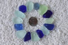 BEAUTIFULL BEACH GLASS Top Drilled Braclet by BEACHGLASSSWEPTASHOR, $16.99