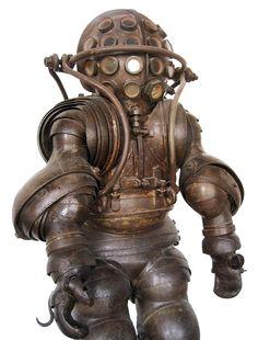 "lostsplendor: "" Armored Diving Suit, France c. 1878 (via Xerposa) """