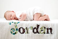 Monogrammed Baby Blanket, Blue Dot Minky and White Chenille, Personalized with Your Baby Boy's First Name