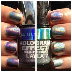 "Layla Holographic ""Carly Manicure"" - see www.lacqueredlover.com for more!"