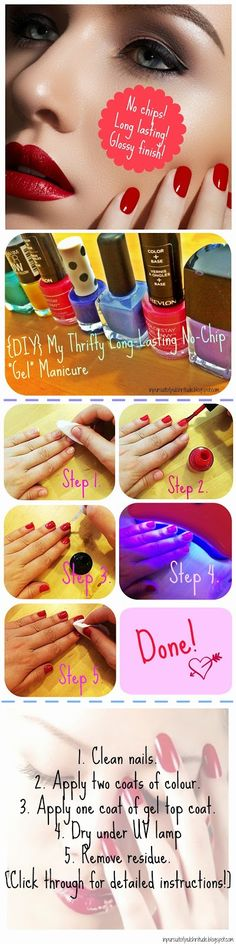 Do it yourself no chip manicure best 25 diy gel nails ideas on pinterest gel manicure near solutioingenieria Images