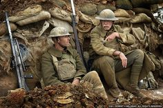 WW1 reenactment photo taken by Robert Belgrad alias Mason Dixon Photography of 2 I would guess American Expeditionary Forces (AEF) soldiers in a trench