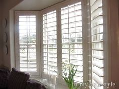 Wide Plantation Shutters On Bay Window From Smith Le