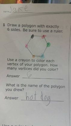 Kids' Wrong Exam Answers That Were Absolutely Perfect - name