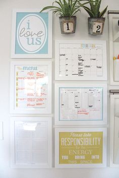 To be this organized! I think I will start with the weekly menu. Love the idea of writing on the frames!  Command Center Reveal | The Caldwell Project