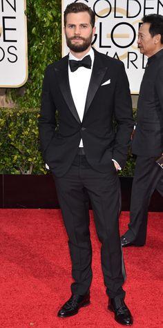 Golden Globes 2015: Red Carpet Arrivals - Jamie Dornan from #InStyle