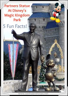 Five Fun Facts About The Partners Statue At Magic Kingdom | No trip the the Magic Kingdom is complete without a photo op at the iconic Partners Statue. The statue sits in front of Cinderella castle, at the end of Main Street U.S.A., and greets guests as they make their way into the lands. And by the way, I didn't spell Cinderella wrong. It's actually not pronounced...