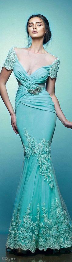 vestido azul tiffany